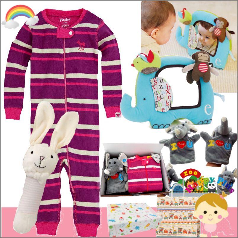 女の子 出産祝い カナダHatley ベビー服とおもちゃセット