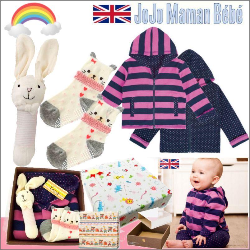 女の子 出産祝い&1歳お祝い イギリス リバーシブルパーカーセット