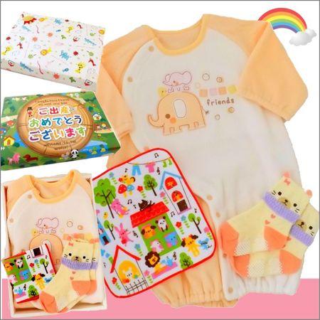 女の子出産祝い 生後6ヶ月まで着られるベビー服セット
