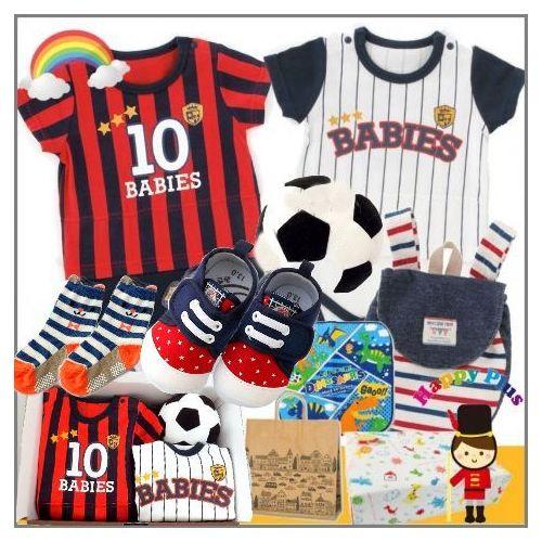男の子出産祝い サッカーと野球ユニフォームベビー服セット