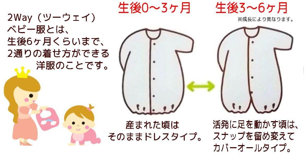 2Wayベビー服