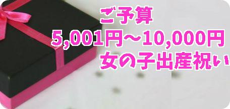 女の子出産祝い5千円~1万円以下の商品とは?