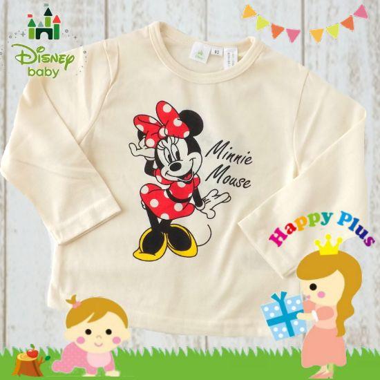 disney baby ミニーマウス長袖Tシャツ