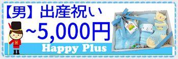 男の子出産祝い 5,000円まで