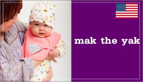 アメリカのmak the yak(マックザヤック) ベビー服