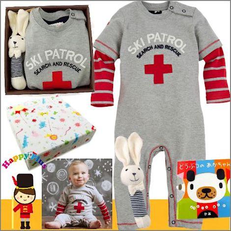 男の子出産祝い カナダベビー服と絵本セット