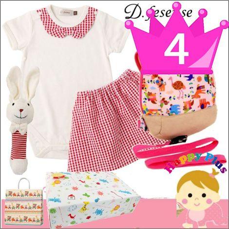 おすすめ 女の子出産祝い4位 アニマルベビ-服とベビー用品セット