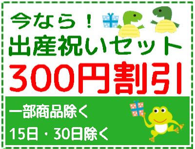 出産祝いセット300円割引