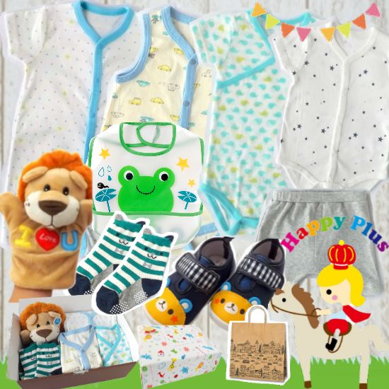 男の子出産祝い 生後6ヶ月以内に贈るベビー服とベビーシューズセット