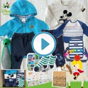 男の子出産祝い Disney babayミッキーマウスわくわく9点セット