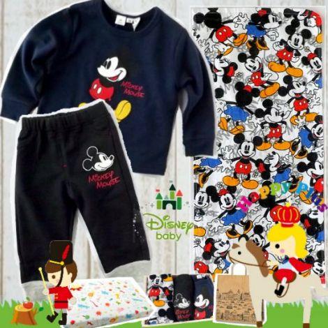 男の子出産祝い・1歳お祝い Disney baby ミッキーマウスベビー服セット
