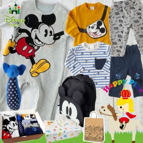 男の子出産祝い Disney babyミッキーマウスベビー服7点セット