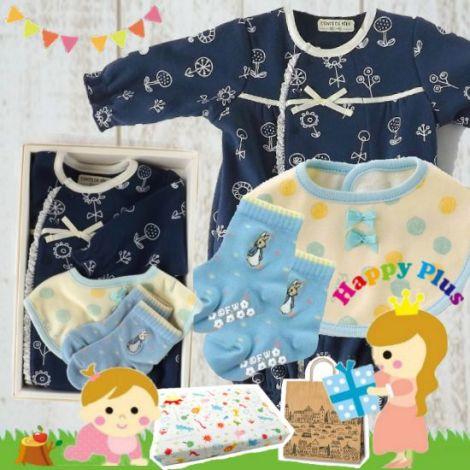 女の子出産祝い お花畑2Wayベビー服3点セット