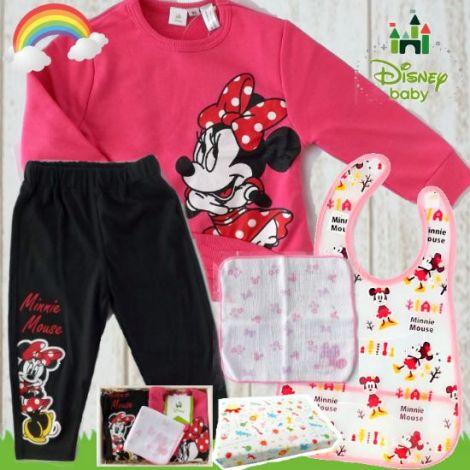 女の子出産祝い・1歳お祝い  Disney babyミニーマウスベビー服4千円セット