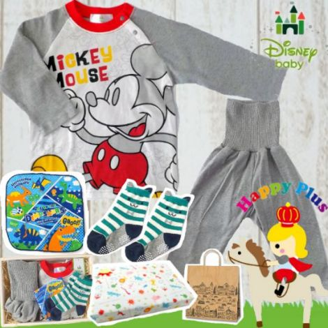 2人目、3人目の出産祝いにも! Disney baby ミッキーマウスパジャマセット(A)