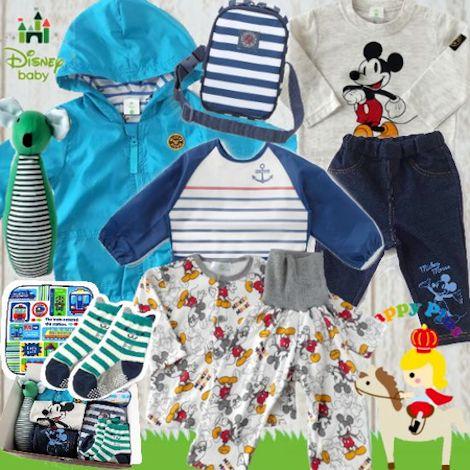 男の子出産祝い Disney babayミッキーマウスわくわく10点セット