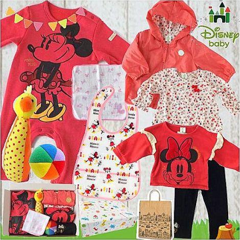 女の子出産祝い Disney baby ミニーマウスわくわくベビー服9点セット