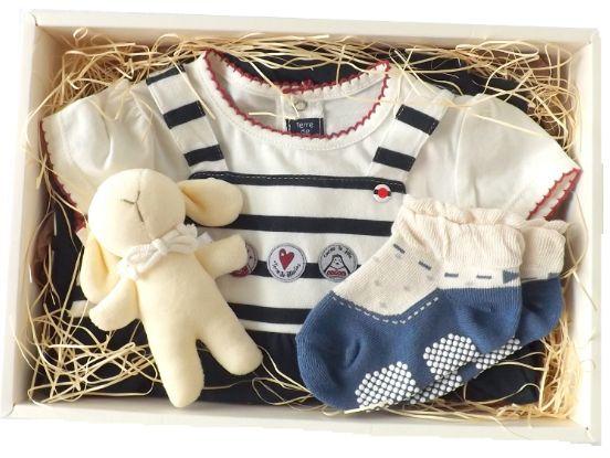 フランスベビー服 女の子出産祝い