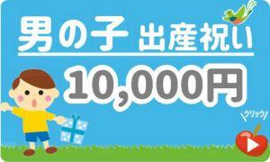 出産祝い男の子 予算10,000円