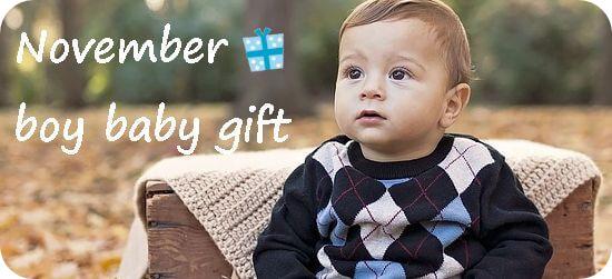 11月生まれの男の子へ贈る出産祝い