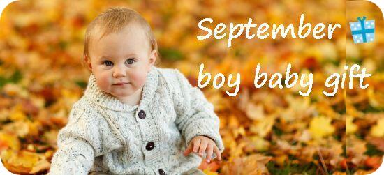 9月生まれの男の子へ贈る出産祝い