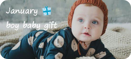 1月生まれの男の子出産祝い