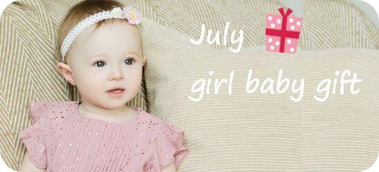 7月生まれの女の子へ贈る出産祝い