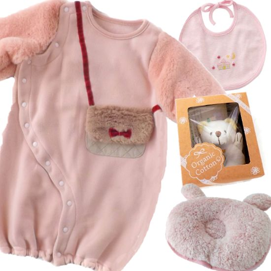 ふんわり秋冬ベビー服 女の子出産祝いプレゼント