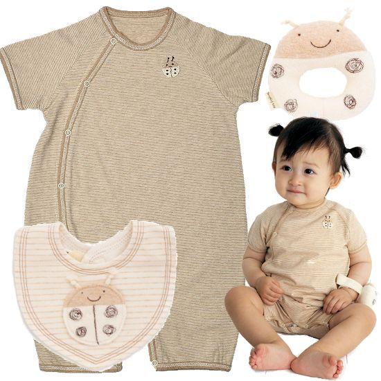 pompkins baby出産祝い オーガニックコットンテントウムシベビー服セット
