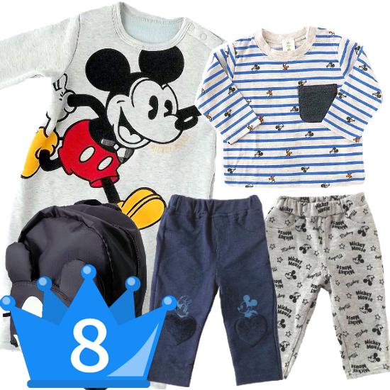 おすすめ男の子出産祝い8位 Disney babyミッキーマウスベビー服7点セット