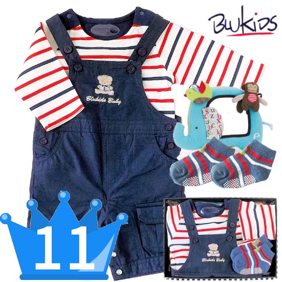 おすすめ男の子出産祝い11位 職場でのお祝いにも! イタリアベビー服とベビー用品セット