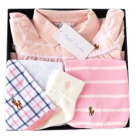 送料無料(沖縄・離島除く) 女の子出産祝い RALPH LAUREN ラルフローレン ワンピースベビー服セット