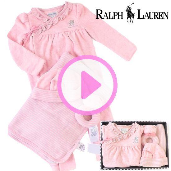 女の子出産祝い RALPH LAUREN ラルフローレン ベビー服カバーオールギフトセット