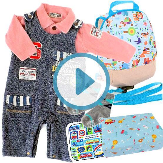 男の子出産祝い SPUNKY KIDSベビー服とSolbyリュックセット