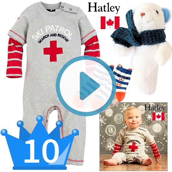 おすすめ男の子出産祝い10位 スキー場パトロールデザインのカナダベビー服とおもちゃセット