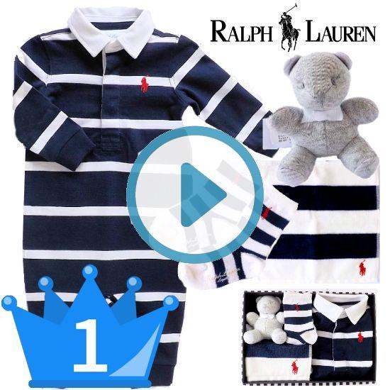 おすすめ 男の子出産祝い1位 RALPH LAUREN ラルフローレン カバーオールギフト4点セット