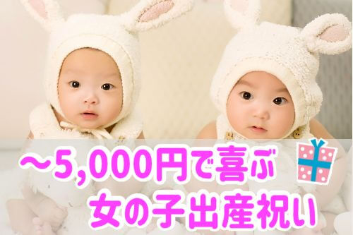 5千円以下 女の子出産祝い