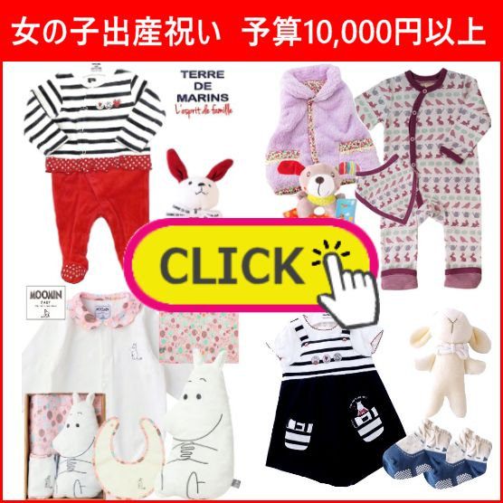 かわいい女の子出産祝い 予算1万円以上