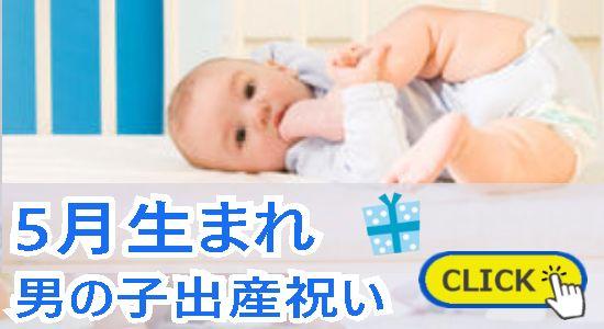 5月生まれ 男の子出産祝い