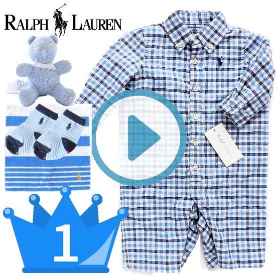 当店人気1位 RALPH LAUREN ラルフローレン 男の子出産祝い 新生児ベビー服4点セット
