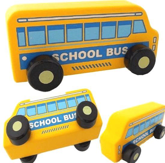 黄色いバス 車のおもちゃ
