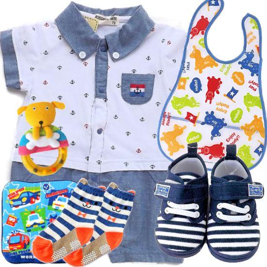 夏のおでかけベビー服とベビー用品 男の子出産祝い