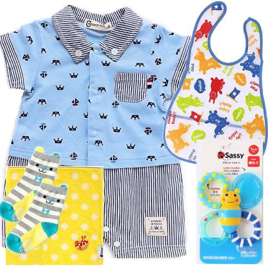 夏のおでかけベビー服とベビー用品 男の子出産祝い(B)