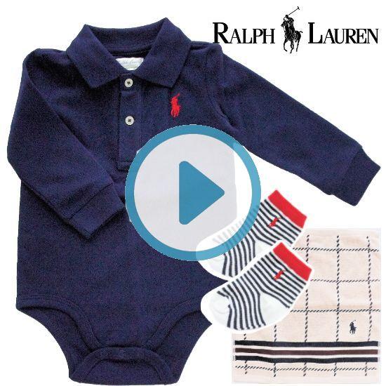 RALPH LAUREN ラルフローレン 長袖ロンパース男の子出産祝い