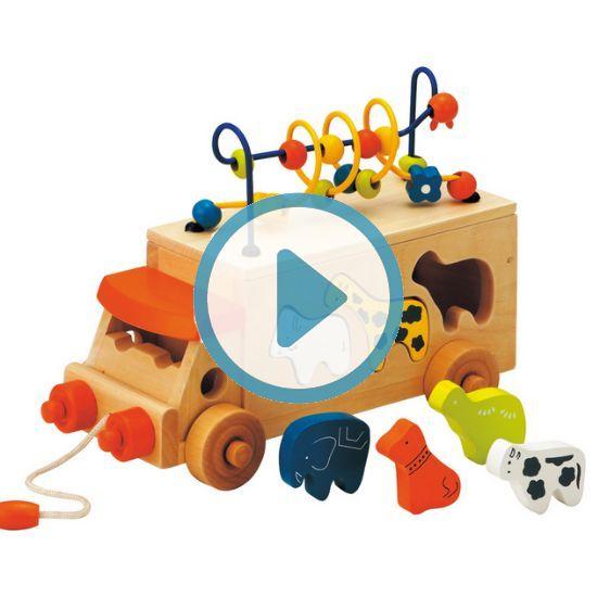 木のおもちゃ アニマルビーズバス