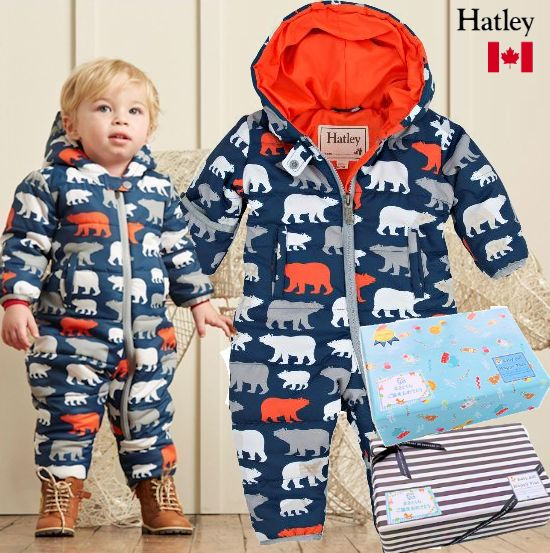 秋冬におすすめ! 男の子出産祝い カナダHatley 防寒ベビー服(Bear)