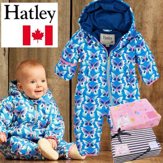 秋冬におすすめ 女の子出産祝い カナダHatley防寒ベビー服 IcyButterflies