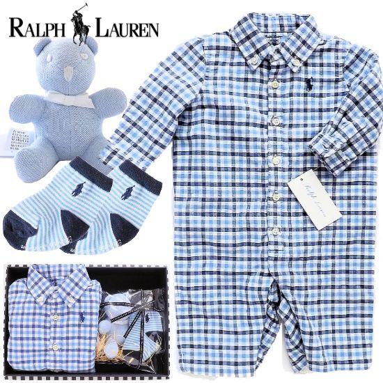 RALPH LAUREN 男の子出産祝い ラルフローレン 新生児ベビー服4点セット