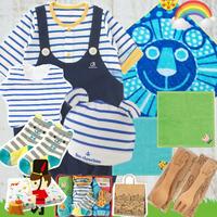 男の子出産祝い もらって嬉しい春夏 重ね着風ベビー服とsassyタオル7千円セット