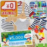 送料無料(沖縄・離島除く)男の子出産祝い おそろい2Wayカバーオールセットと出産祝いギフト券5千円